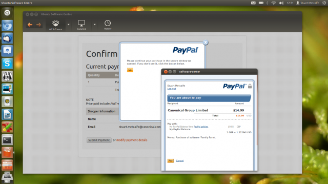Ubuntu Pay with PayPal