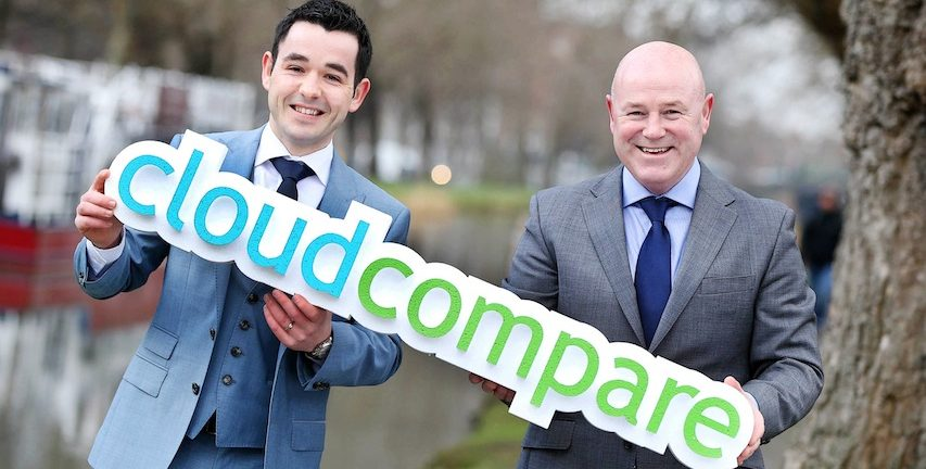 Michael Dowling and Eamon Moore cofounders of Cloud Compare  an aspiring cloud services brokerage CSB in Europe