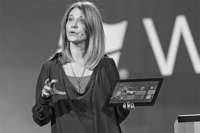 Microsoft marketing chief Tami Reller says Windows 8 has sold 100 million licenses and an upgrade codenamed Windows 8 Blue is under development