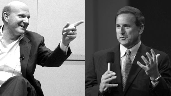 Microsoft CEO Steve Ballmer and Oracle President Mark Hurd talk Oracle running on HyperV and in the Windows Azure cloud