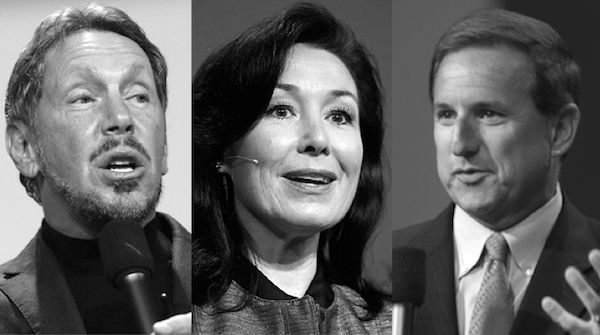 Have Oracle leaders Larry Ellison Safra Katz and Mark Hurd jumpstarted sales at the hardware software and cloud company Answers are coming soon
