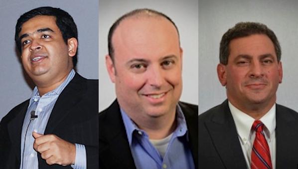 Zenith Infotech CEO Akash Saraf left says John McCallum middle succeeds Maurice Saluan right as the cloud companys sales leader