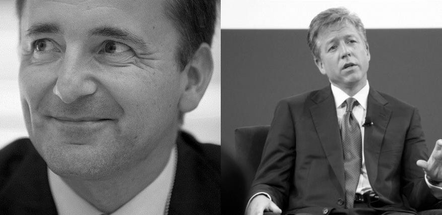 SAP coCEO Jim Hagemann Snabe left and coCEO Bill McDermott right