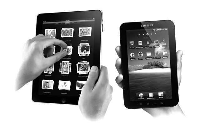 Apple iPads set the early pace But Samsung Galaxy tablet sales running Android are now skyrocketing