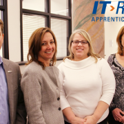 Some of the faces behind Creating IT Futures Executive Director Charles Eaton Board Member Pam Green Director of Development and Operations Coleen Attwell and Senior Manager of National Workforce Programs Amy Spear