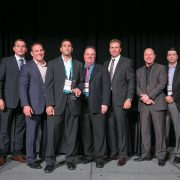 Pictured left to right Fernando Quintero VP Americas Channel Sales amp Operations McAfee Mike Carpenter President Americas McAfee Joe Vaccone CEOFounder Excel Micro Eric Mignogna COO Excel Micro Gavin Struthers SVP Worldwide Channel Operations McAfee Steve Redman Executive Vice President Global Sales McAfee and Robert Dyer VP Americas Sales ndash LTAM McAfee