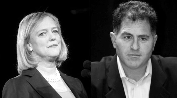 HP CEO Meg Whitman and Dell CEO Michael Dell Who39s got the leg up