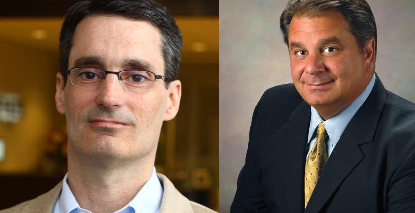 Sophos Cloud General Manager Bill Lucchini left and Worldwide Sales Senior Vice President Michael Valentine right say the channel has nothing to fear