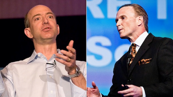 Amazon CEO Jeff Bezos and ConnectWise CEO Arnie Bellini