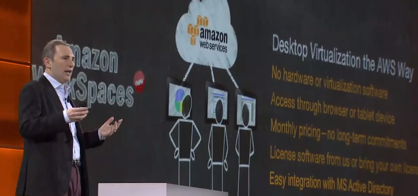 Amazon SVP Andy Jassy says virtual desktops were the most frequent request the company got from AWS customers