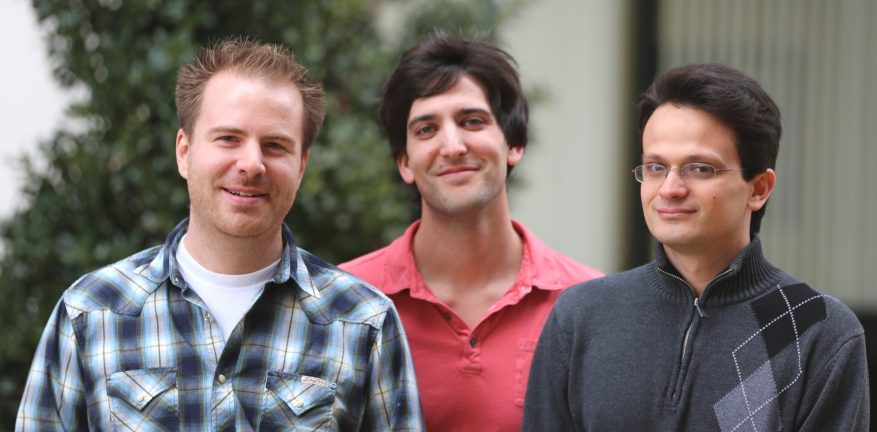 The founders of FoundationDB Nick Lavezzo left Dave Rosenthal center and Dave Scherer right