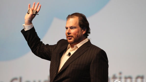 Salesforce CEO Marc Benioff says his vision is the Internet of customers where companies create a onetoone experience