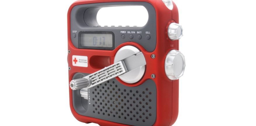 This is my new solarpowered handcrank powered American Red Cross radio Now I need to learn how to hook the crank up to power the rest of my house