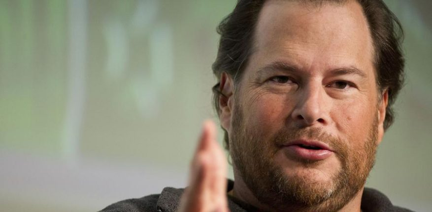 Salesforce CEO Marc Benioff founded the CRM company in 1999