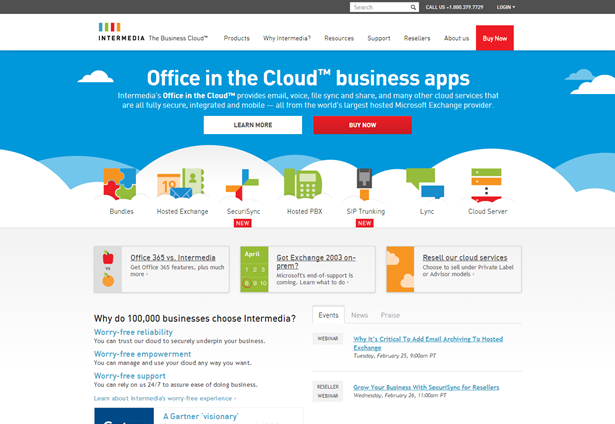 Intermedia says it couldn39t have reached this milestone without its customers and partners