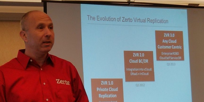 Zerto Marketing and Products VP Gil Levonai says this strategy will evolve over time
