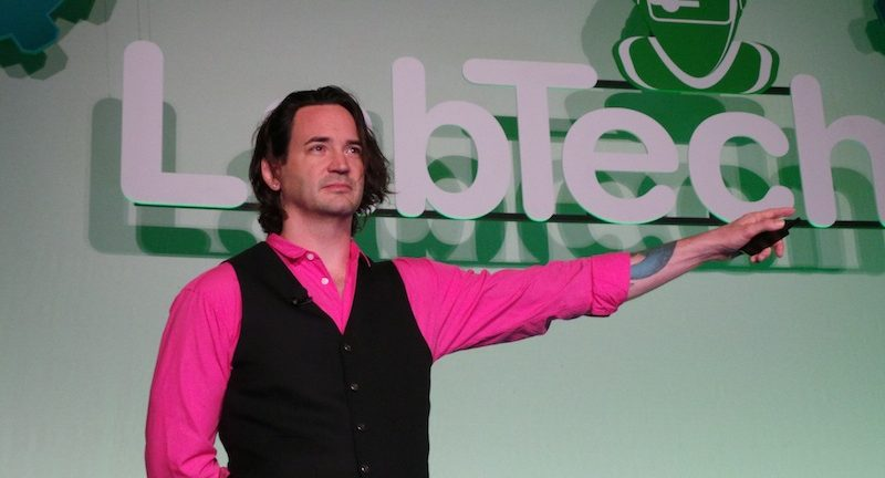 ExCIO of Google and ZestFinancecom CEO Douglas Merrill insulted The Steve Miller Band but rocked the pink buttondown shirt at LabTech39s Automation Nation 2014