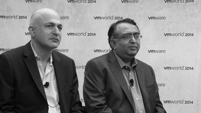 VMware CTO Ben Fathi left and SoftwareDefined Data Center Division EVP Raghu Rahuram right during a press conference at VMworld 2014