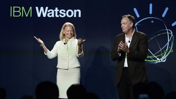 IBM CEO Ginni Rometty and Senior Vice President Mike Rhodin open IBM39s new global Watson headquarters at 51 Astor Place in Silicon Alley
