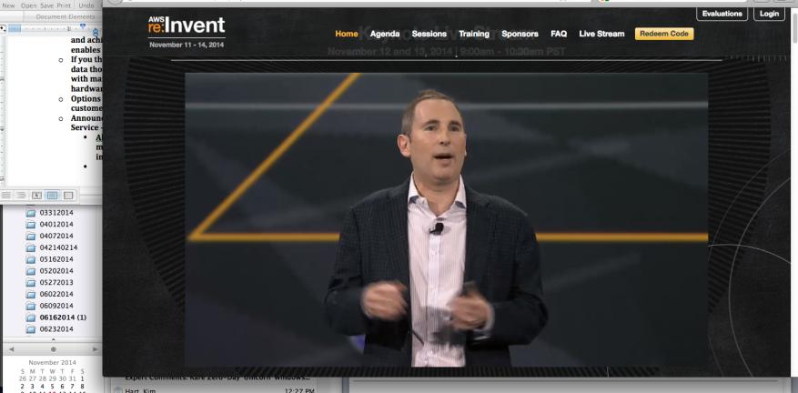 Andy Jassy senior vice president of Amazon Web Services