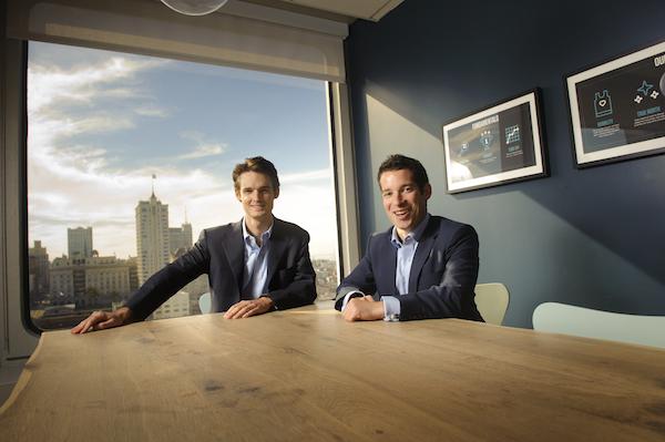 AppDirect coCEOs Nicolas Desmarais left and Daniel Saks right