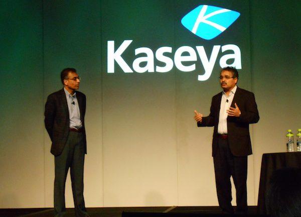 Kaseya CEO Yogesh Gupta left and Chief Technology Officer Prakash Khot