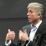 SAP CEO Bill McDermott speaks to reporters during a press conference at Sapphire Now 2015