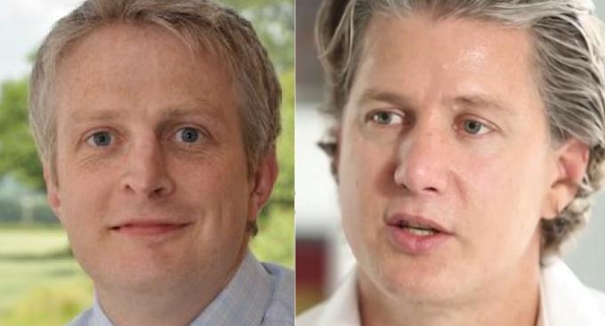 Christian Nagele left AEM GM of Sales and Ian Van Reenen right AEM GM of Product Development
