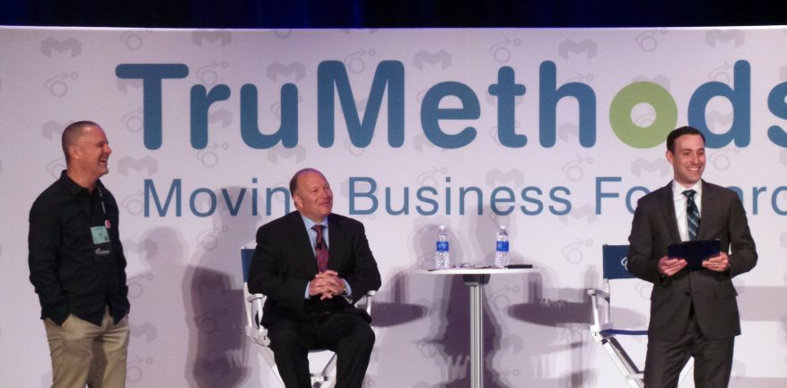 TruMethods Founder and CEO Gary Pica center and Chief Awesome Officer Bob Penland right with a TruMethods member and Schnizzfest attendee left