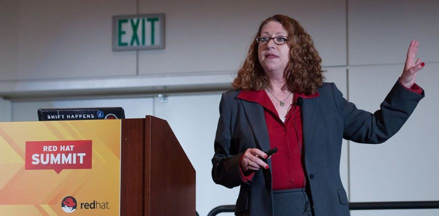 Jane Circle presents on public cloud at last year39s Red Hat Summit