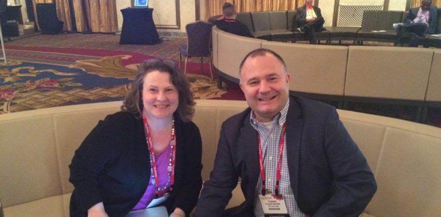 MSPmentor left met with AVG Technologies VP of Global Channel Francois Daumard right at CompTIA ChannelCon AVG tweeted out this photographic proof