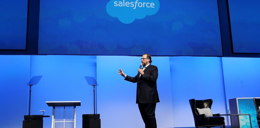 Marc Benioff Salesforce CEO speaks at last year39s Dreamforce conference