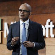 Microsoft CEO  Satya Nadella  spoke in Washington DC on Tuesday