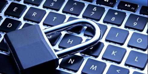 Image of a padlock over a keyboard
