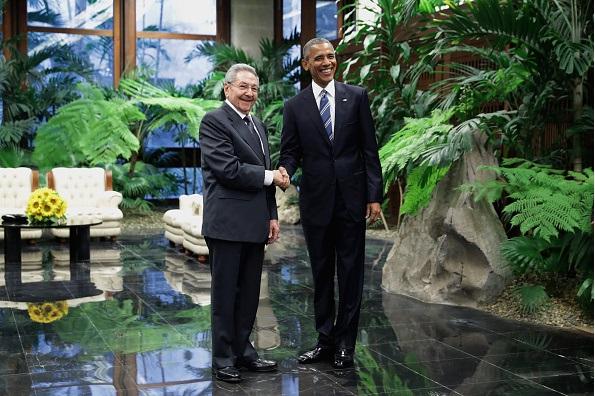 President Barack Obama meets Cuban President Raul Castro in Havana