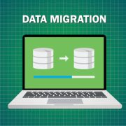 Data migration graphic
