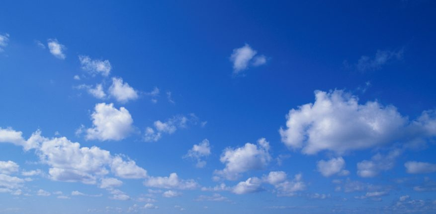 Clouds against blue sky background