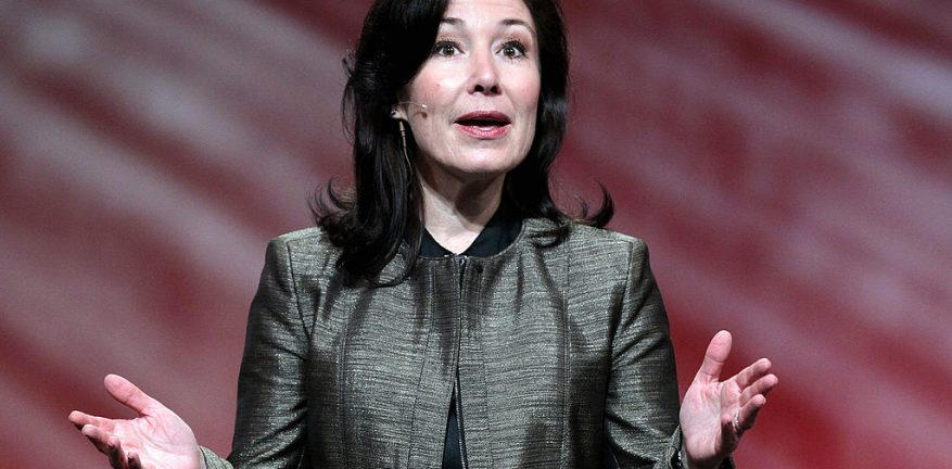 Safra Catz speaks during the 2010 Oracle Open World conference