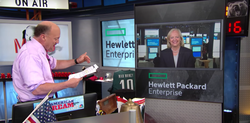 CNBC Video Meg Whitman Lays Out Vision for HPE From Discover 2016