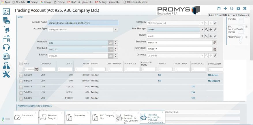Promys PSA Business Software Adds Profitability Tracker For MSPs