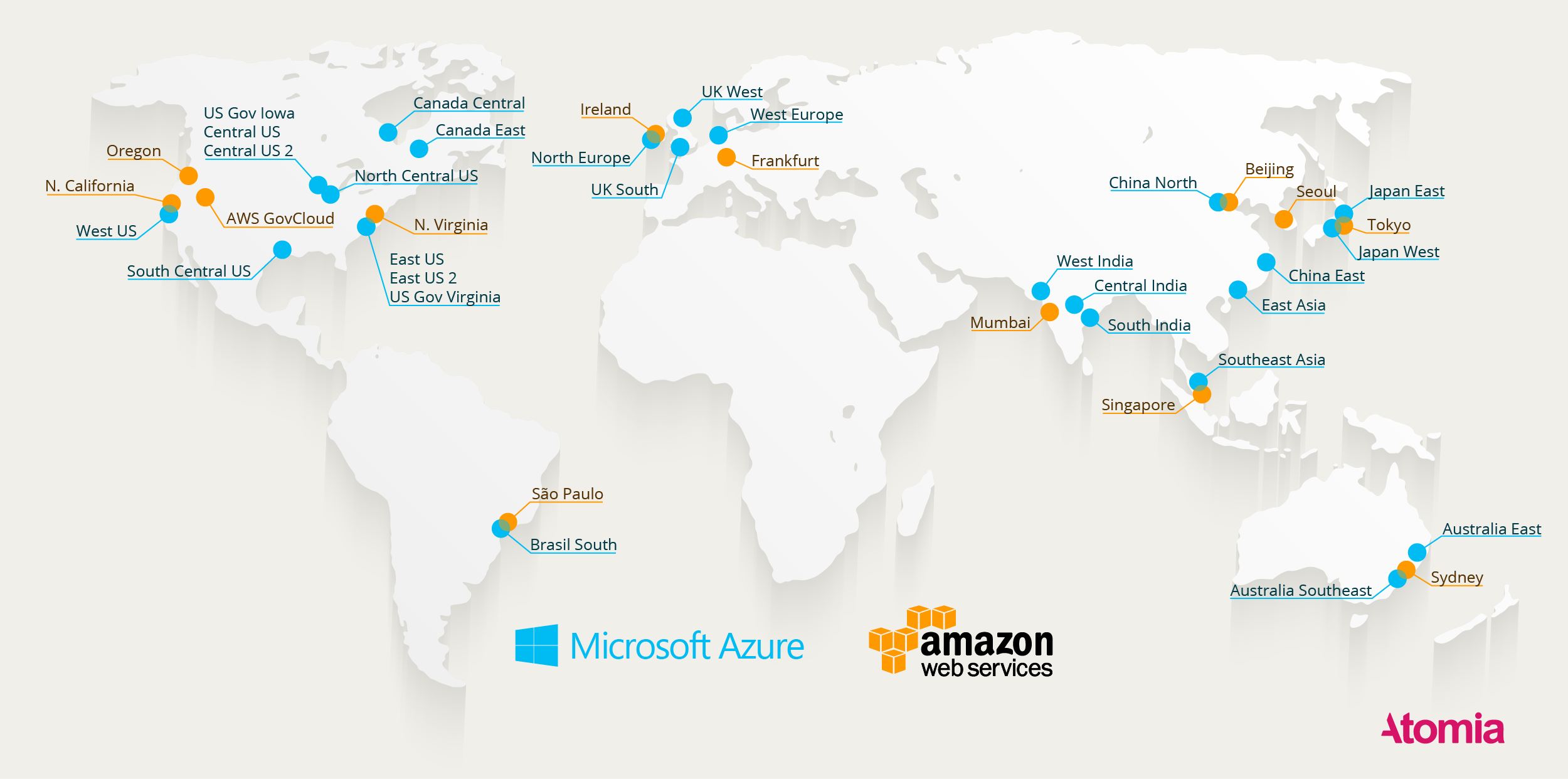 Here\'s a Map of All Azure and AWS Data Centers