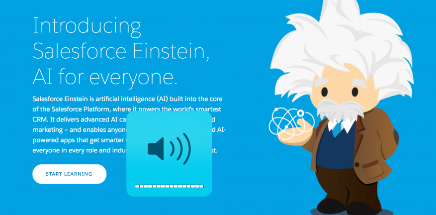 Salesforce Unveils Artificial Intelligence Einstein Service
