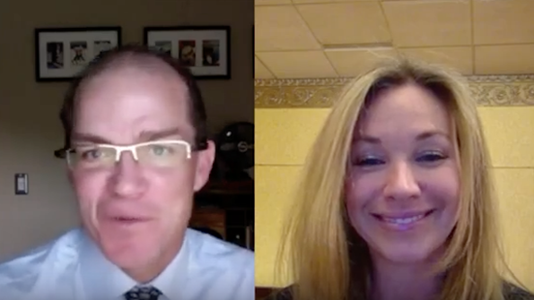 Penton Tech editor TC Doyle and Microsoft GM of Worldwide SMB Sales Alyssa Fitzpatrick