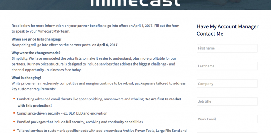 Do Mimecast Increases Amount to Price Gouging
