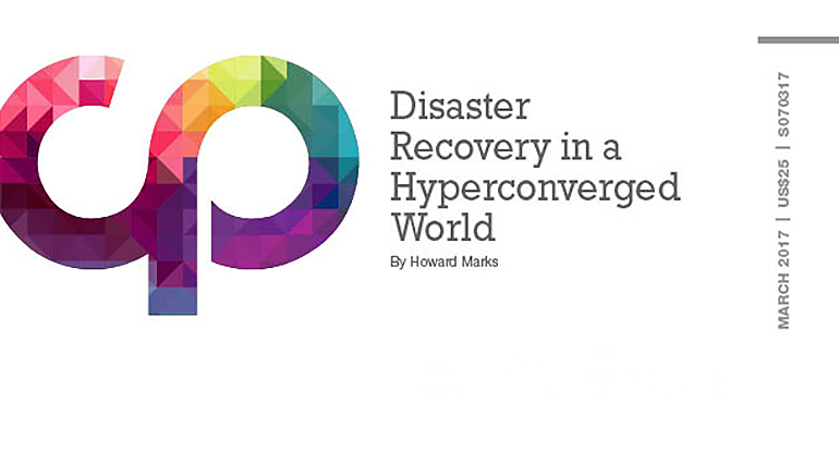 Disaster Recovery in a Hyperconverged World