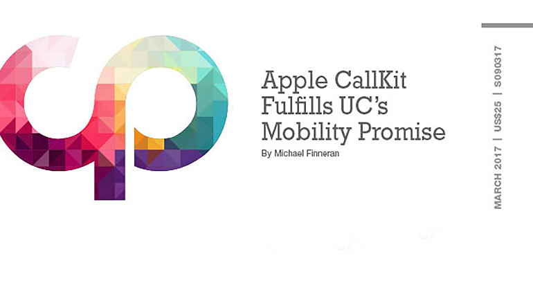 Apple CallKit Fulfills UC's Mobility Promise