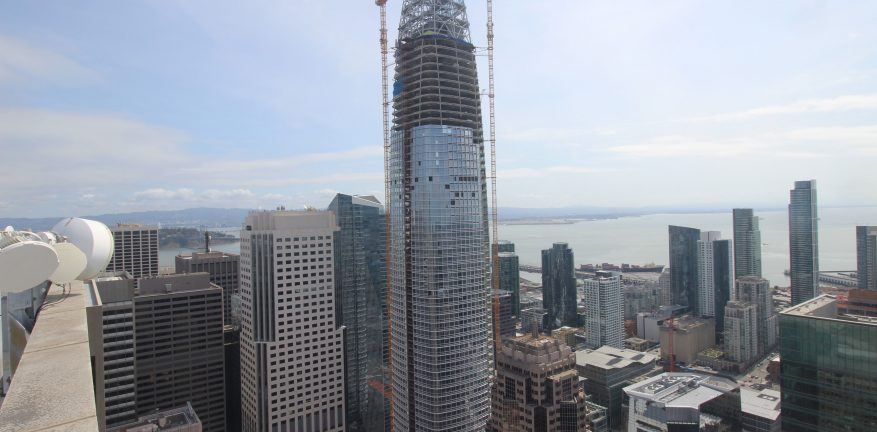 Salesforce Tower is scheduled to be completed by July 2017