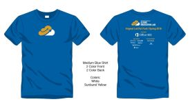Our official, inaugural Cloud Migration Lab tee is as blue as Sinatra's eyes and available to those attending one of our six sessions.