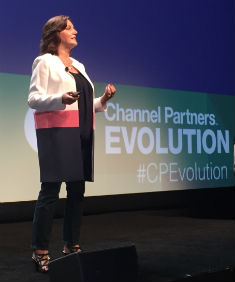 Verizon's Janet Schijns delivered a Channel Partners Evolution keynote address after her Tuesday morning interview with Channel Partners.