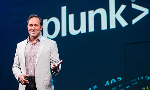Splunk's Doug Merritt on stage Tuesday at .conf 2016.